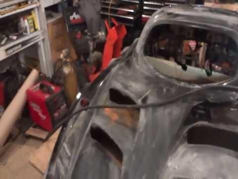 2000 Arctic Cat ZRT800 hood paint job PT1