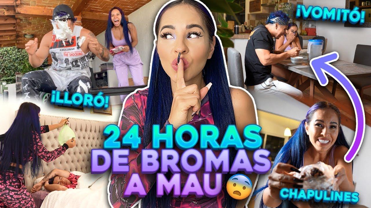 24 HORAS DE BROMAS PESADAS A MAU 😨🤭 FUI DEMASIADO LEJOS..| Karla Bustillos