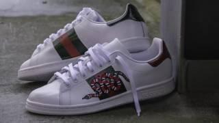 Diy Gucci Gucci x Adidas customized