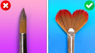HOW TO PAINT FOR BEGINNERS AND PROS || Wonderful Drawing Tricks And Art Techniques