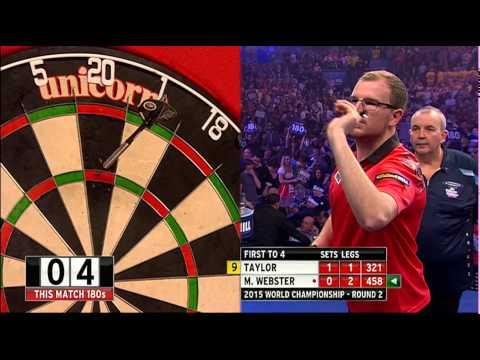 Phil Taylor v Mark Webster   Round Two   World Darts Championship 2015