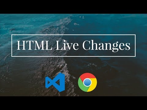 HTML File Live Changes While Editing In VS Code