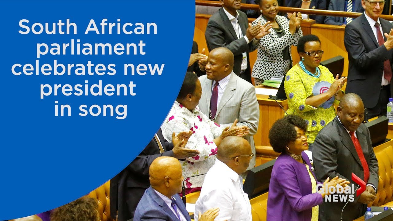 South African politicians erupt in song after electing Jacob Zuma's successor