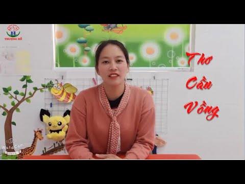 Dạy bé học: Bài thơ: Cầu Vồng của nhà thơ Nhược Thủy_ Mẫu Giáo bé 3 Tuổi