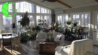 A lovely sunroom in full bloom