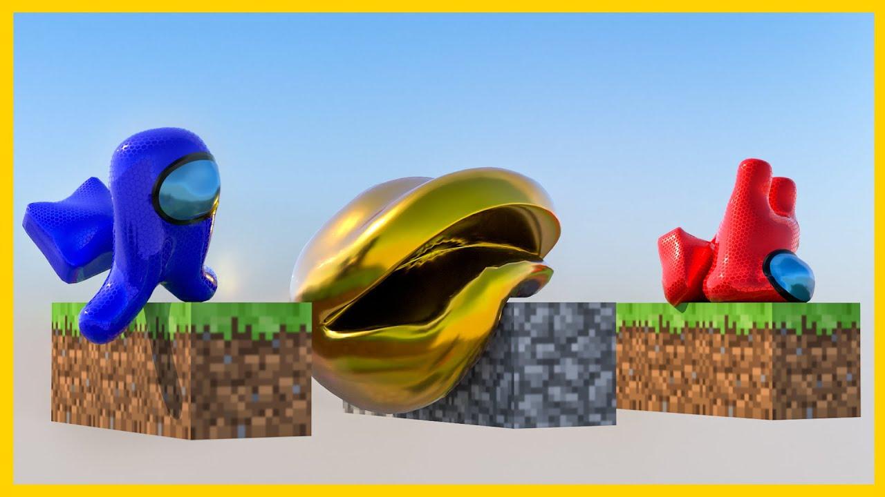 ➤ Pacman vs Among Us [softbody race] 👽 60FPS