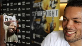 'YOU WONT PAY ME THE MONEY' - DERECK CHISORA FACE TIMES JOE JOYCE IN MIDDLE OF INTERVIEW