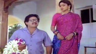 Alludugaru Movie || Shobana & Nizhalgal Ravi Marriage Planing Scene || Mohan Babu, Shobana