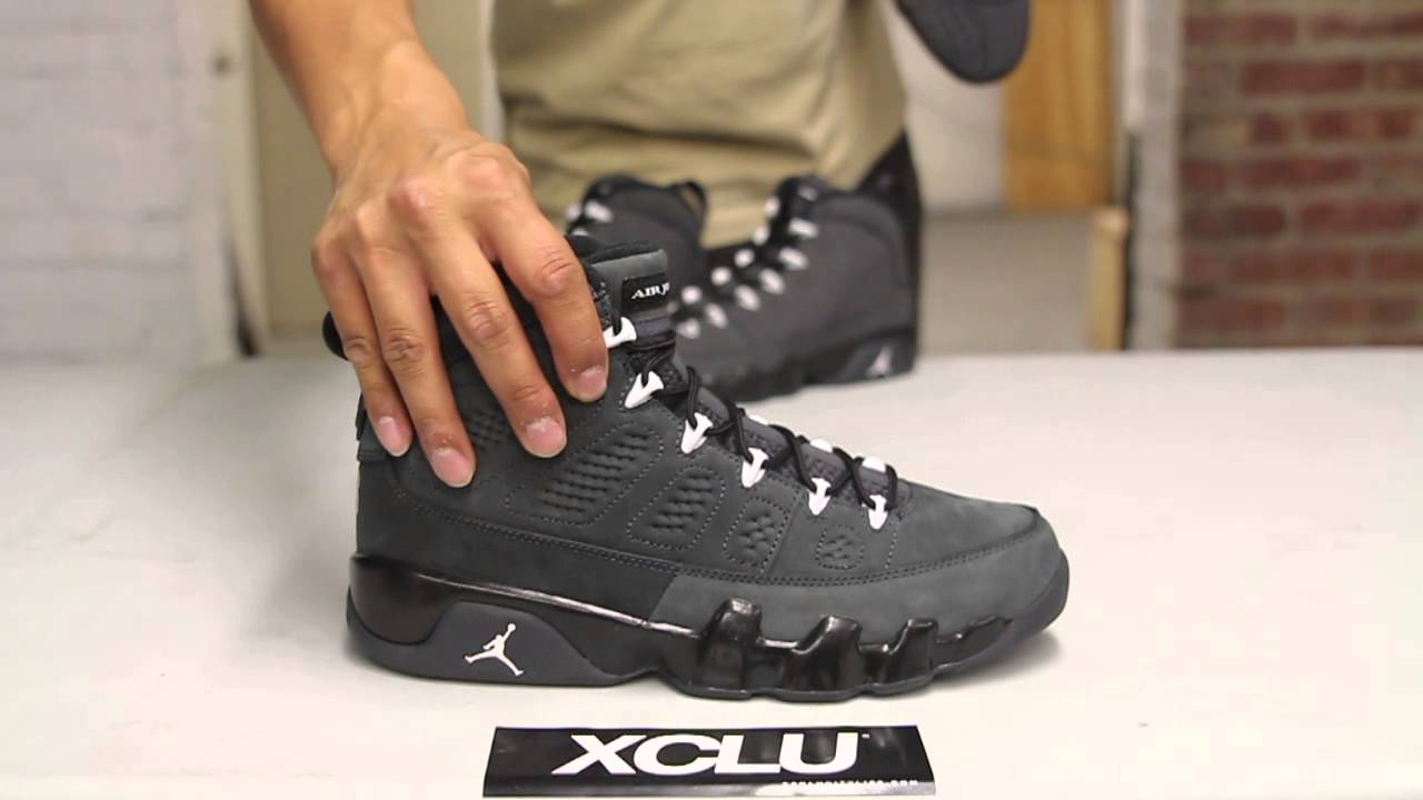 f8cfd7c09cd ... 50% off air jordan 9 retro anthracite unboxing video at exclucity  youtube 02eae ea9a4