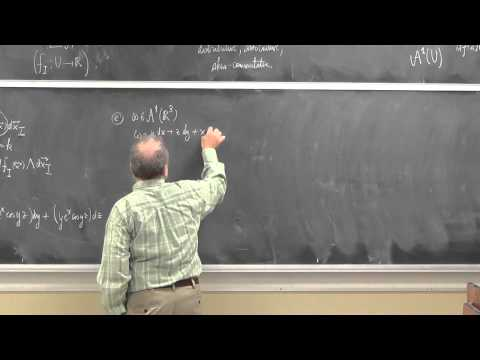 Shifrin Math 3510 Day26: Differential forms and the exterior derivative
