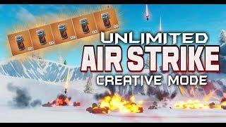 FORTNITE - UNLIMITED AIR STRIKES IN CREATIVE MODE - NEW AIR STRIKE CANISTER GRENADE OUT NOW