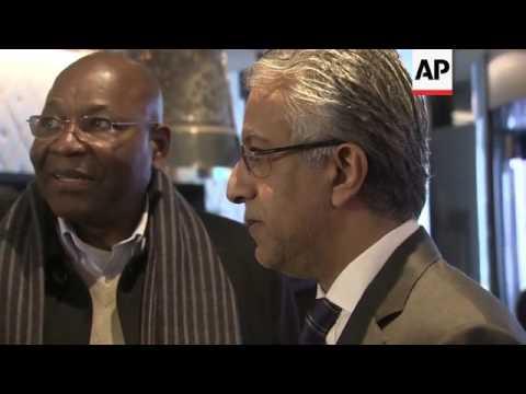 African FIFA delegates arriving in Zurich