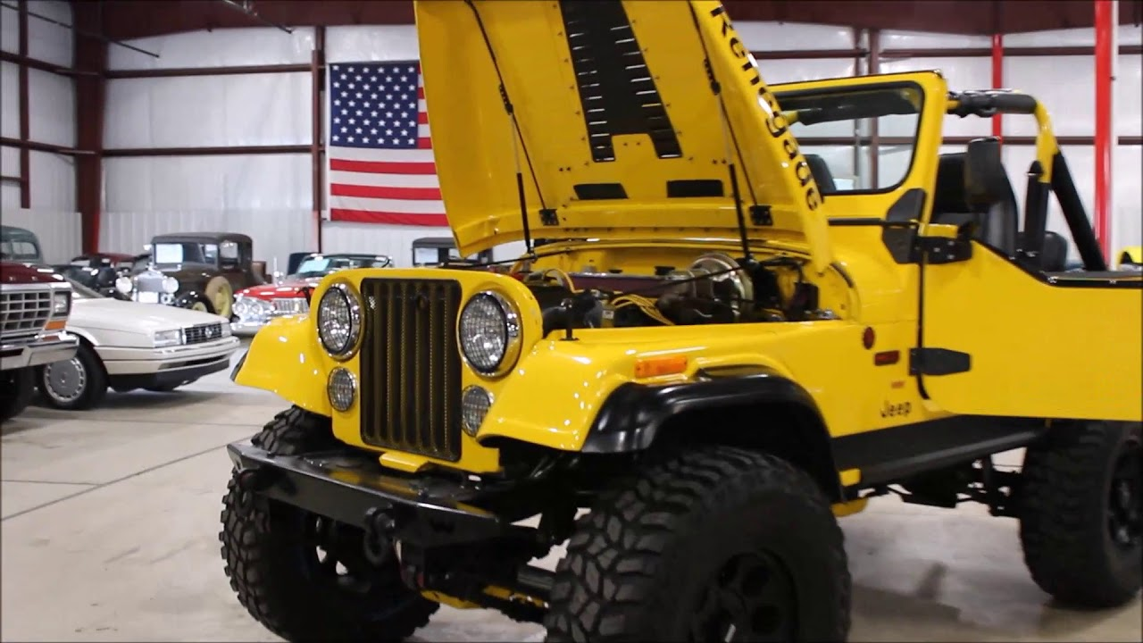 1982 jeep cj7 yellow - youtube