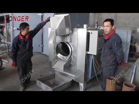 100 Kg/H Peanut Roasting Machine Sesame Seed Roaster Dryer ...