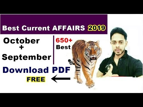 Download PDF FREE 🔥🔥🔥Current Affairs 2019   October + September In Hindi For Rrb Ntpc And Group D