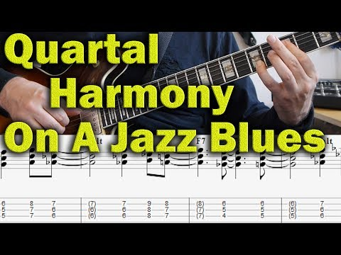 Quartal Harmony on a Jazz Blues - modern jazz guitar lesson - McCoy Tyner