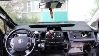 Разборка приборной панели Тойота Приус 20/Dismantling of the dashboard Toyota Prius 20