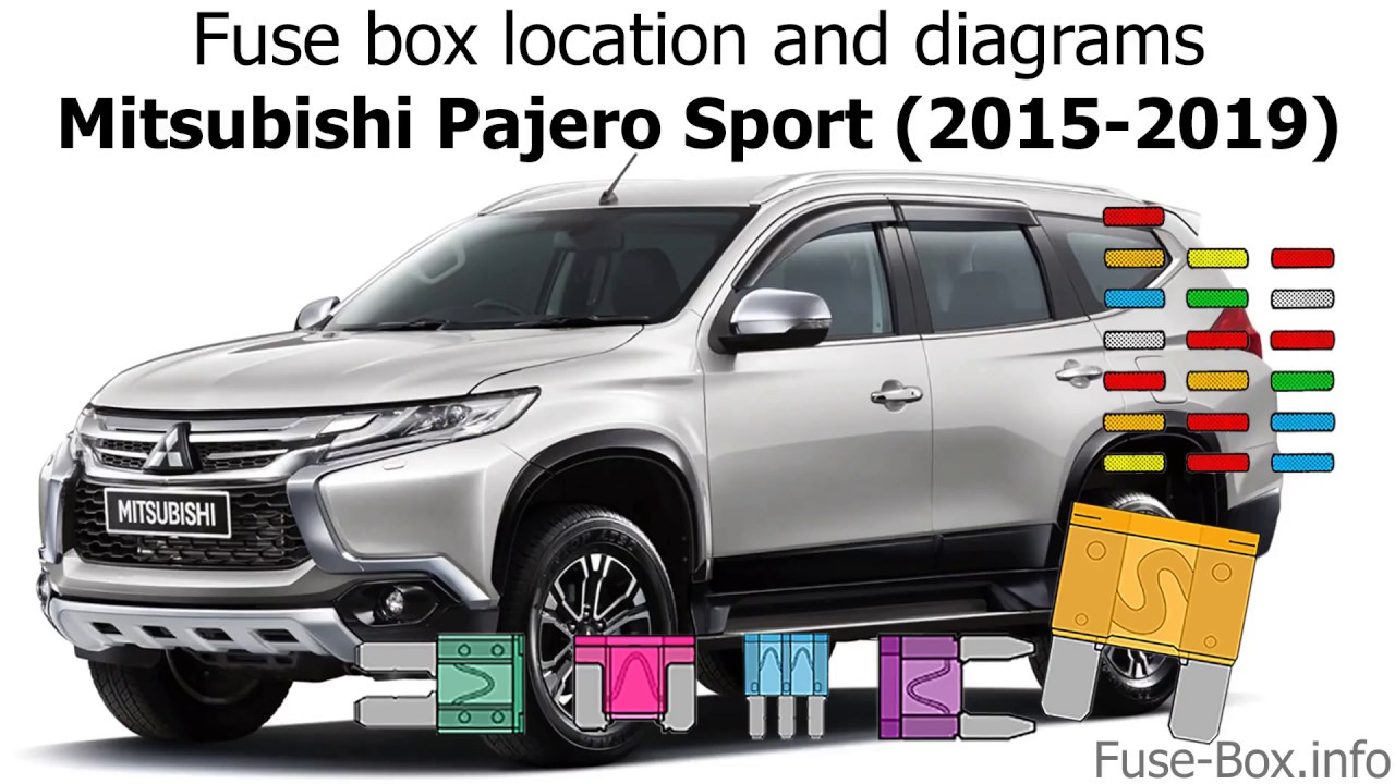 Fuse Box Location And Diagrams Mitsubishi Pajero Sport 2015 2019 Youtube