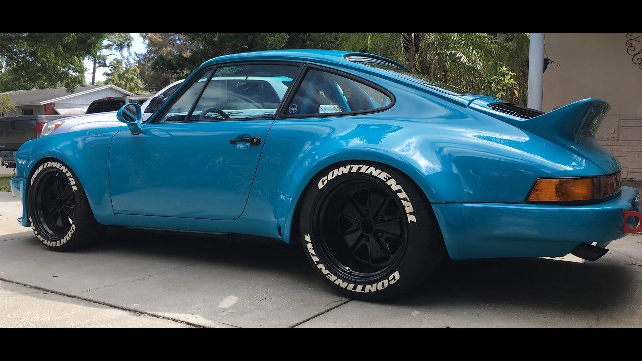 Miami Blue Wide Body Porsche 911 3 3 Short Stroke