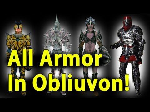 Elder Scrolls Oblivion All Armor + DLC In 5 Minutes