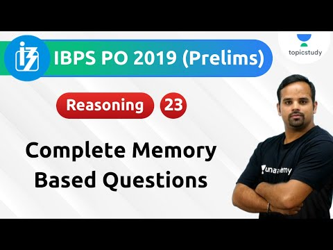 9:00 AM - IBPS PO Pre 2019   Reasoning by Sachin Modi Sir   Complete Memory Based Questions   Day#24