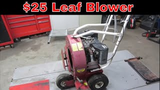 Will IT Run? Giant Vac Garage Sale Leaf Blower,