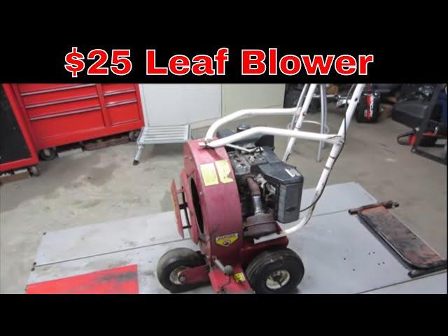 Will IT Run? Giant Vac Garage Sale Leaf Blower,