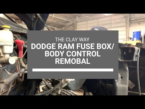 dodge ram fuse box/body control removal
