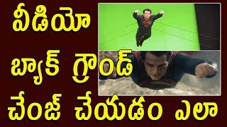 How to change video background very easy way telugu    Filmora    Telugu Tech Tuts