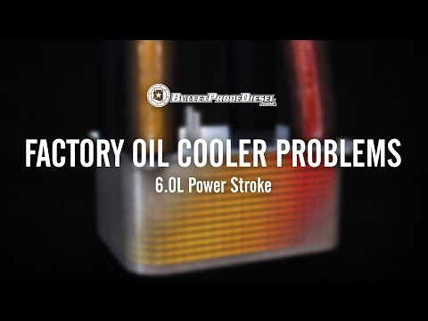 Problems with the Factory Engine Oil Cooler; 6.0L Power Stroke