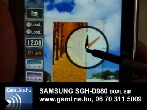 SAMSUNG D980 | www.GsmLine.hu