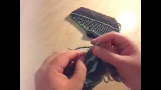 Вязание спицами следки.Шаг 2