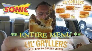 Video SONIC ☆LIL' GRILLERS☆ ENTIRE MENU Food Review!!! download MP3, 3GP, MP4, WEBM, AVI, FLV Juli 2018