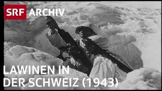 Schnee- und Lawinenforschung Schweiz (1943) | Das Lawinenbulletin | SRF Archiv