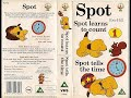 Spot Learns to Count and Spot Tells the Time (1991, UK VHS)