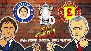CHELSEA 1-0 MAN UTD - FA CUP FeetFighter 2! (Herrera red card, Rojo stamp, Kante Goal + Highlights)