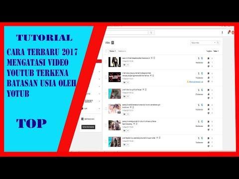 Cara Mengatasi Video Youtub Terkena Batasan Usia Dari Youtub
