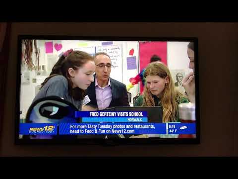 News 12 CT Visits Roton Middle School GT