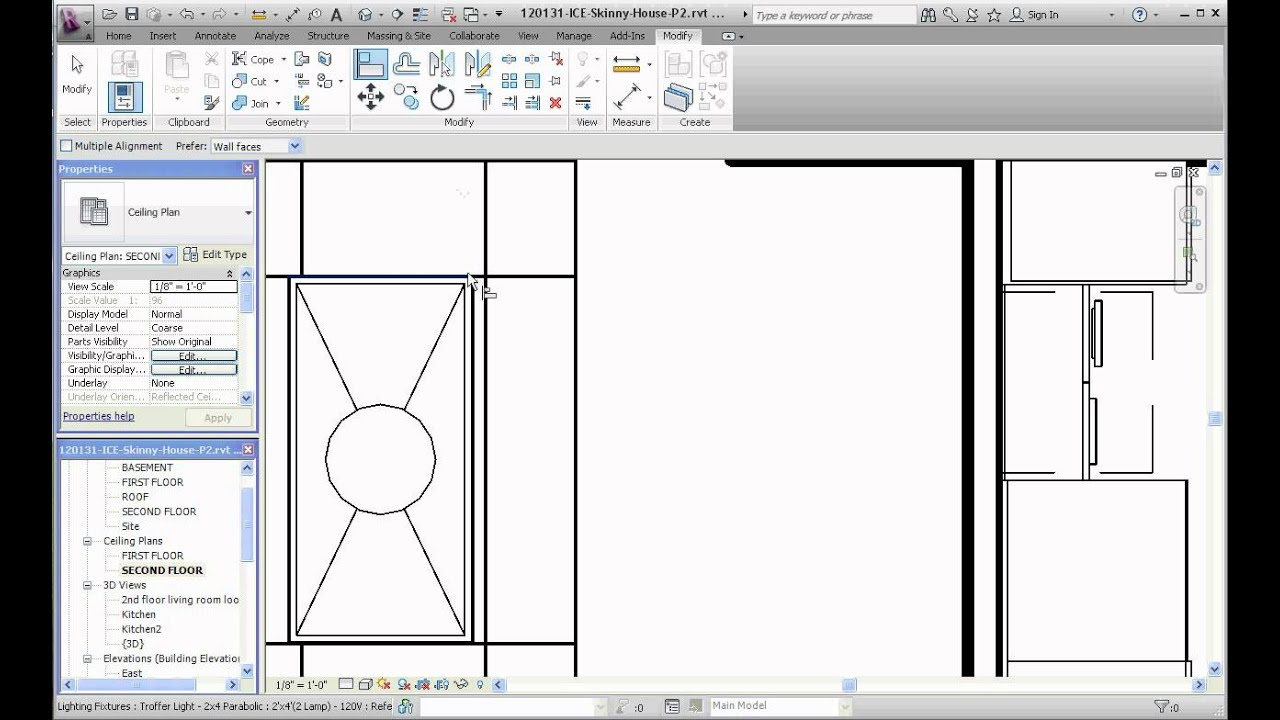 Revit placing ceiling lights hbm blog placing ceiling lights in revit architecture image rendering part installing arubaitofo Choice Image