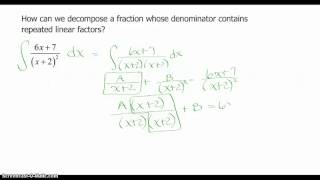 Partial Fraction Decomposition Continued