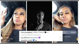 JANIA REACTS TO NBA YOUNGBOY SONG LONELY CHILD