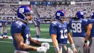 Madden NFL 17 - New York Giants vs Dallas Cowboys | Gameplay (HD) [1080p60FPS]