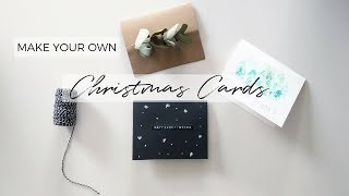 HANDMADE CHRISTMAS CARDS | DIY Holiday Card Ideas 2017