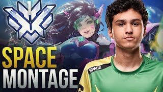 Space - INSANE RANK 1 OFF TANK NA - Overwatch Montage