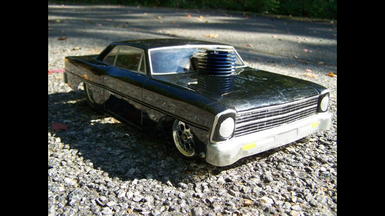 RC 67 Chevy ll Nova Nitro Pro Street Drag Car Big Block .28 Direct ...