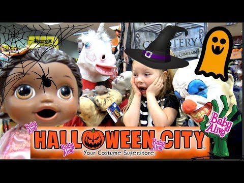 Thumbnail: BABY ALIVE goes on a HALLOWEEN CITY tour! ZOMBIES and CLOWNS! The Lilly and Mommy Show. TOYTASTIC