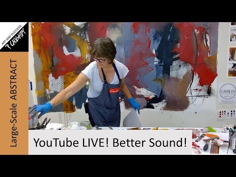 """077 - Pamela Caughey - """"Post-Edit"""" LIVE  - Large-Scale ABSTRACT Painting - Cold Wax/Oil - TECHNIQUES"""