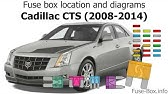Fuse Box Location And Diagrams Cadillac Sts 2005 2011 Youtube