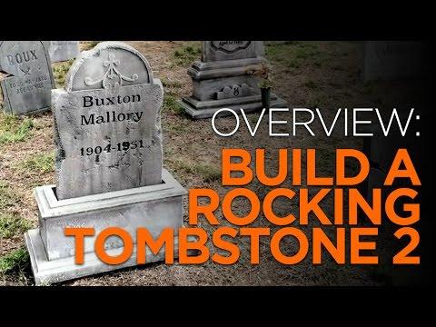 DIY Rocking Halloween Tombstone - Version 2