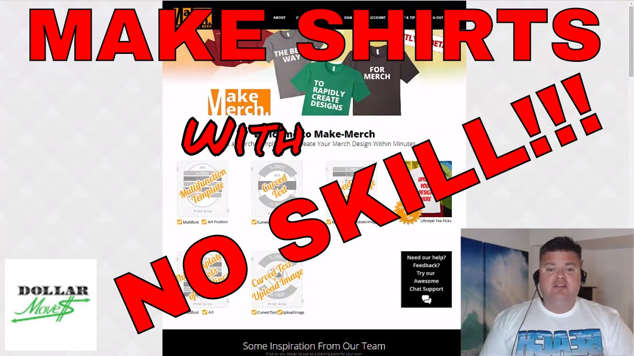 b28909ca Make Money Online With Merch By Amazon Print On Demand POD T-Shirt Service!  Sell Tee Shirt Designs on Amazon! | Dollar Moves | Making Money Online!